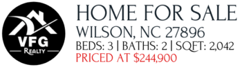 Home For Sale Wilson NC